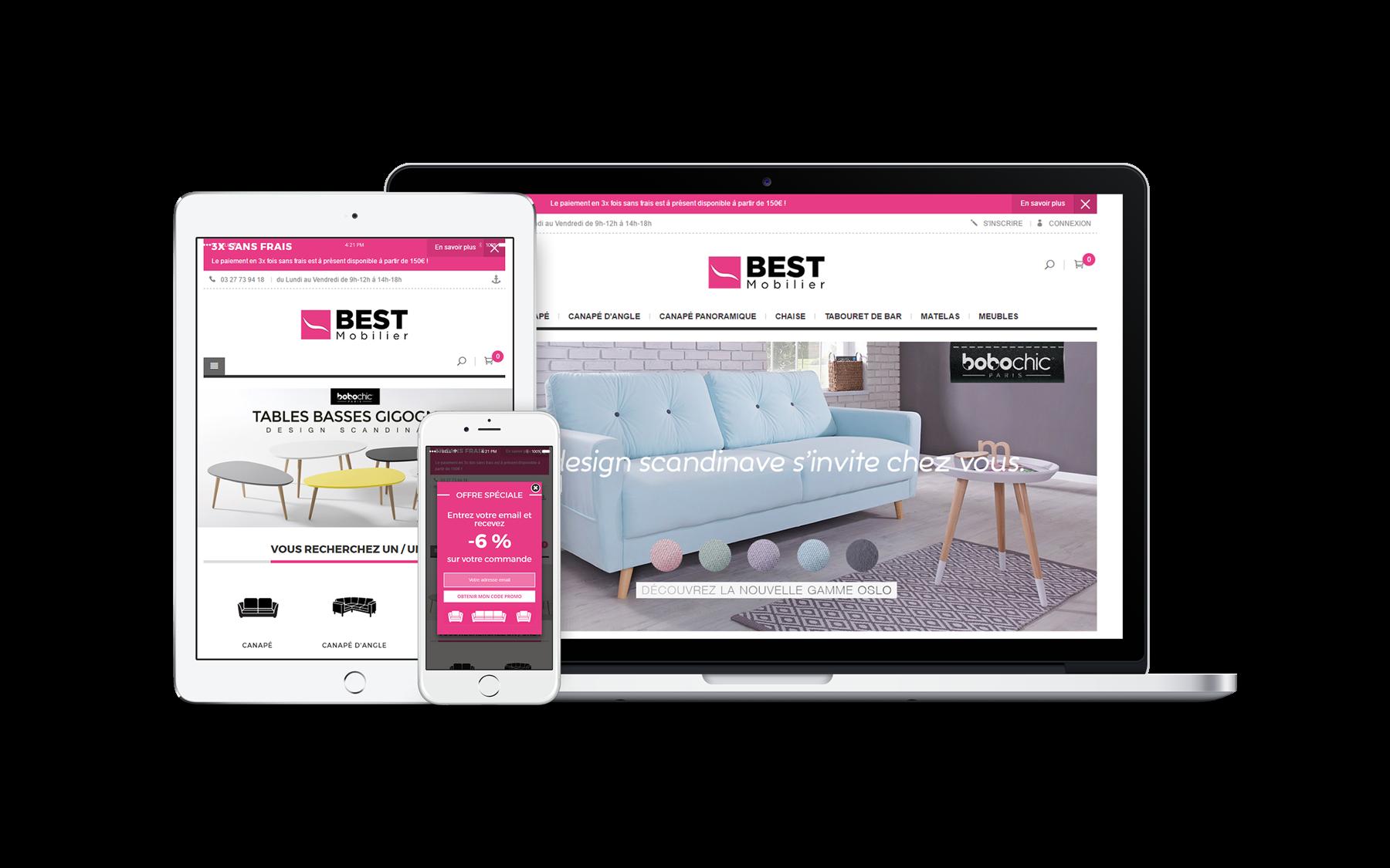 création site e commerce Best Mobilier