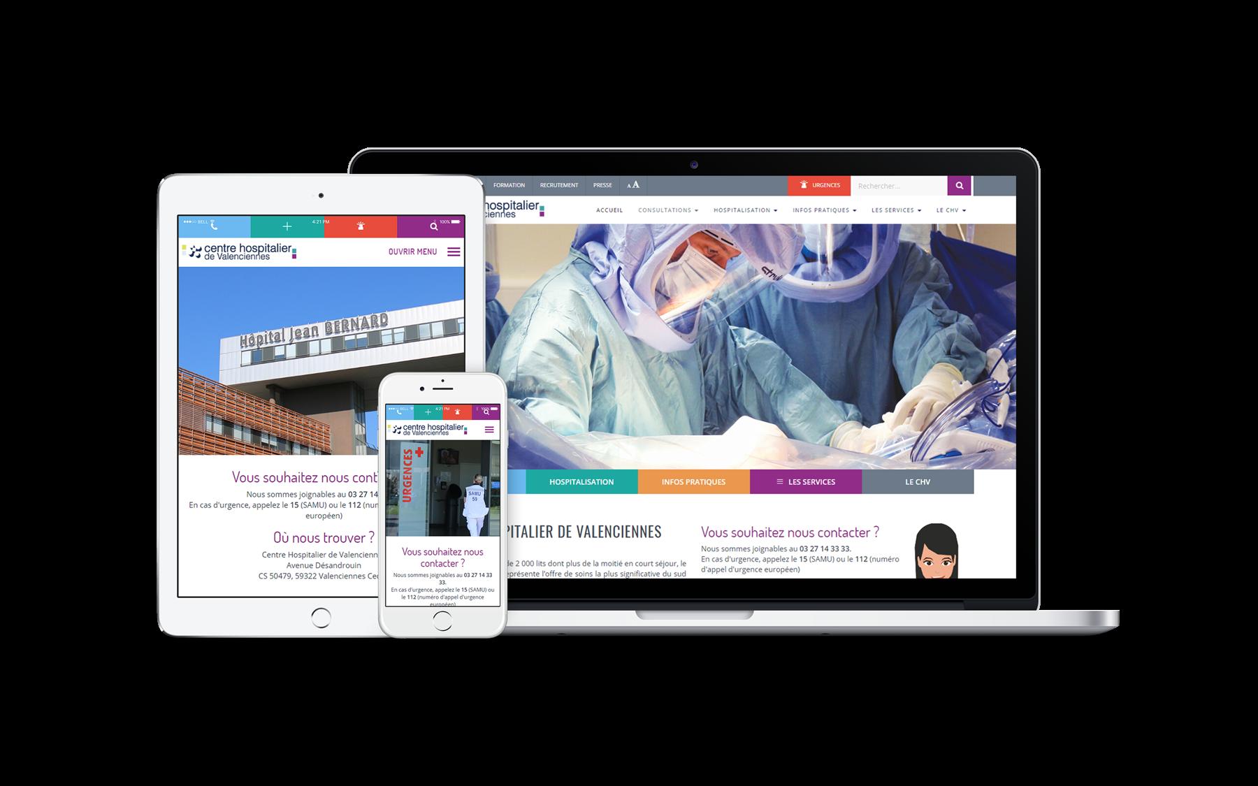 création site web centre hospitalier de valenciennes